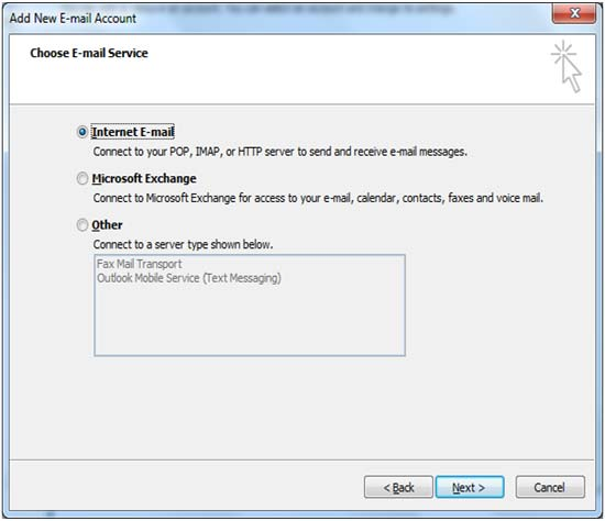 outlook setup in gmail
